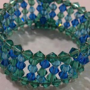 Intermediate Bead Stringing: Crystal Cuff
